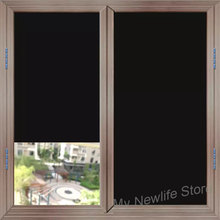 Blackout Anti-UV window film glass sticker Static Cling Window Tint 100% Light Blocking Glass Film for Privacy Heat Insulation