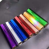 80 M/Roll Gold Silber Heißprägefolie Papier Rollen für Laminator Laminieren Wärme Transfer auf Laser Drucker Diy karte Handwerk Papier