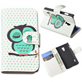 Cartoon PU Leather Case Flip Cover Mobile Phone Case Bag For LG Optimus L7 II Dual P715 Wallet Case With Stand and Card Holder