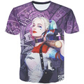 New 2016 fashion print 3D Suicide Squad Harley Quinn Joker anime tshirt casual crewneck tops tee shirts t shirt for women men