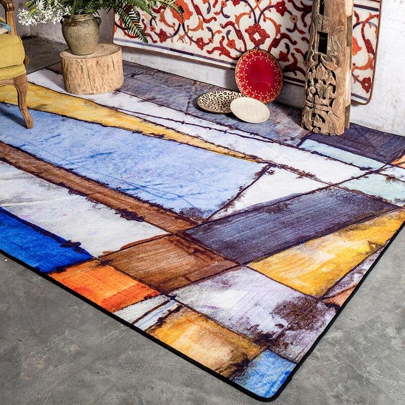 Kingart Big Water Wash Living Room Carpet Kid Room Floor Mat Thick Bedroom Rug For Home Decor and Prayer Blanket