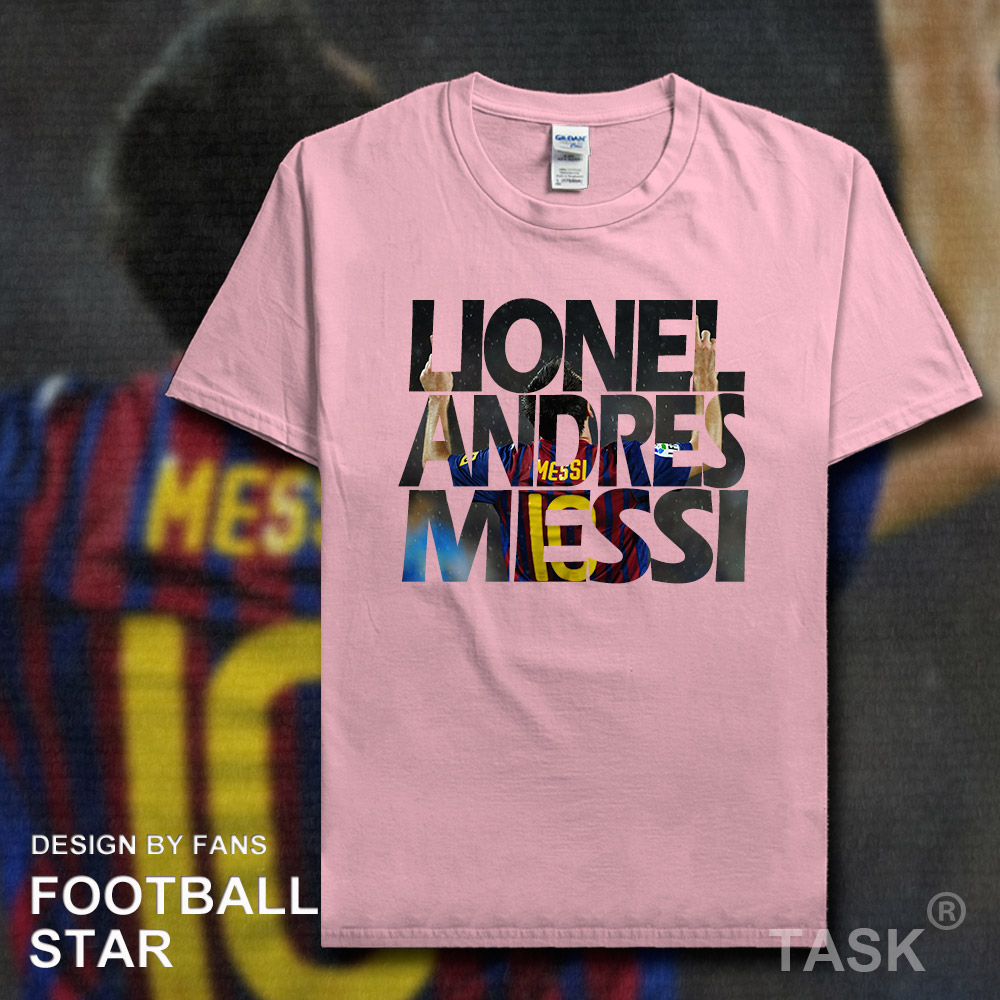 cheap for discount afe13 783ae US $5.99 |Lionel Messi t shirt 2018 jersey Argentina Barcelona footballer  star tshirt 100% cotton fitness t shirt clothes Casual summer 02-in  T-Shirts ...