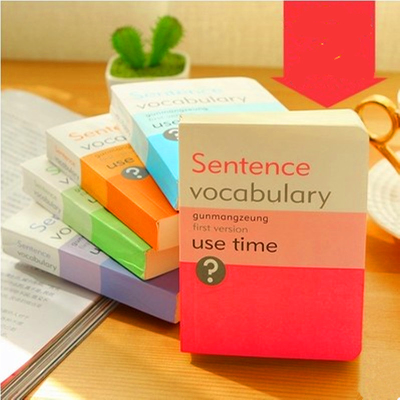 Южная Корея канцелярские обзор маленький помощник в изучении английского языка творческий слово книга, портативный ноутбук