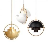 Интерьера половина мяч круг подвесной светильник цвет золотистый для ресторана покрытием одной головы скандинавском стиле