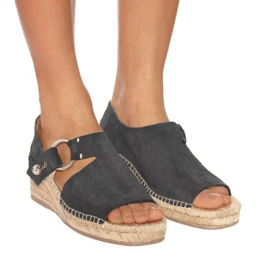 Espadrille Sandals Wedges Shoes Femme Summer Women Suede Chaussures
