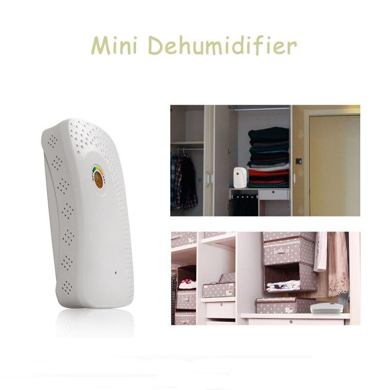 Portable Mini Déshumidificateur 220 V Électrique Calme Air Sèche Absorbeur D'humidité Déshumidificateur D'air pour La Maison Salle De Bains dans Déshumidificateurs de Appareils ménagers