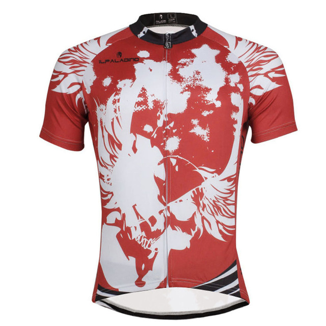 Skulls Pattern Men Short Sleeve Red Bicycle Jersey Full Zipper Cicle Clothes  Size S-6XL c48237855