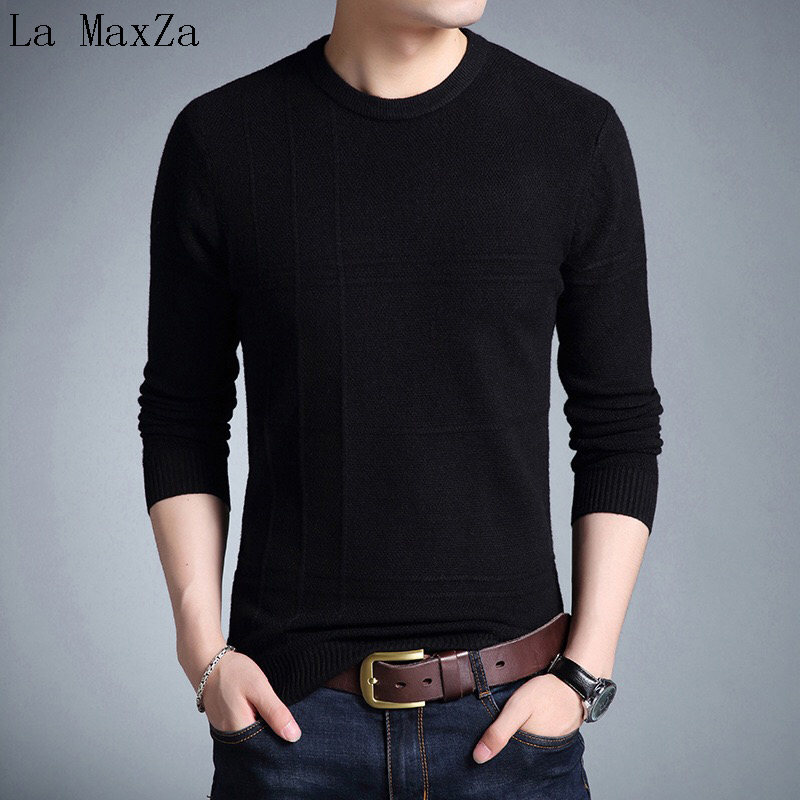 Menswear Winter 2018 Cardigans Of Large Sizes Patchwork O-neck Pullover Sweater Men ...