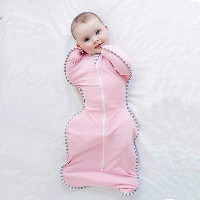 0-1y Baby Swaddle 100% Baumwolle Baby Kleinkind Swaddleme Dünne Wrap Sommer Schlaf Tasche Schlafsack Umschläge Neugeborene Kinder Bademantel
