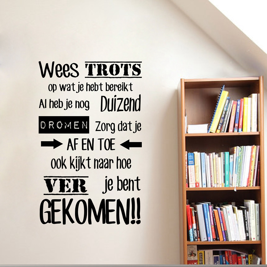 Citations inspirantes néerlandaises en vinyle Sticker mural - Décor à la maison - Photo 1