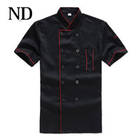 New Chef S Short Sleeved Breathable Outfit Summer Wear Work Clothes Men And Women Overalls Hotel