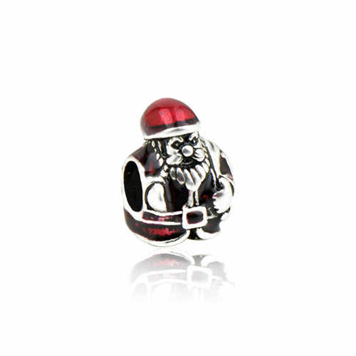 Moda wisiorek niedźwiedź papuga gwiazda święty mikołaj miłość koraliki serca Fit Pandora bransoletki dla kobiet DIY piękna biżuteria świąteczne prezenty