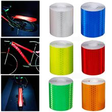 Велосипедная Светоотражающая наклейка для тела, для горного велосипеда, для ночной езды, безопасная, водонепроницаемая, светоотражающая Предупреждение ющая лента, для велосипеда, крутая, анти-наклейка