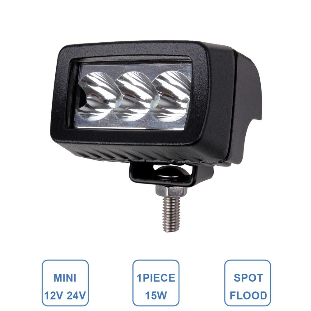 15W Luz de trabajo LED Lámpara antiniebla ATV SUV 4WD UTE - Luces del coche