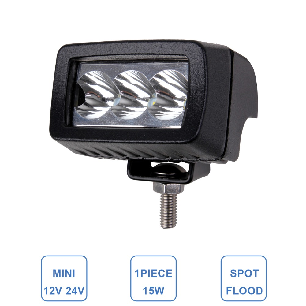 15W Worklight LED Fog Lamp Car ATV SUV 4WD UTE Motorcycle Truck Off Road Headlight 12V 24V 4WD 4X4 Bus Indicator Driving Light