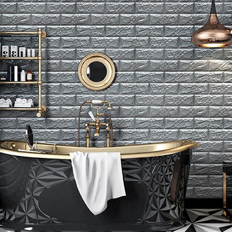 Self Adhesive PE Foam 3D Wallpaper Home Decor Brick