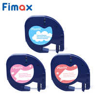 Fimax 1 pcs 91201 dymo Pattern Tapes Compatible for DYMO LetraTag Label Tape 91200 91330 12267 Letratag for DYMO Label Maker