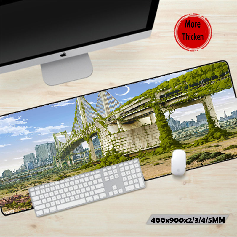 Mairuige Anime Style Pattern Scenery Diy Mouse Pad Mat Laptop Keyboard Mouse Mice Mats Pc Gaming Table Mat for Office/game/gift