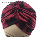 Stretchy Women Turban Pleated Head Wrap Sleep Hat Chemo Hijab Bandana Hijab Indian Cap Knit Beanie Beanies Crochet Bandana M063