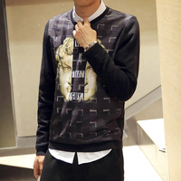 Moda karakter hip hop erkek kazak, kış yeni stil giyim erkek kazak kazak örme yün giyim erkek