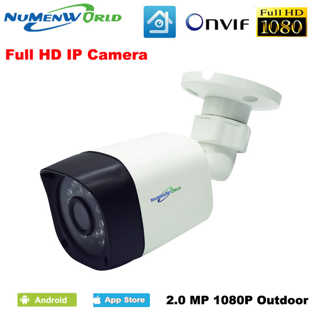 Numenworld HD IP מצלמה אבטחת בית חיצוני עמיד למים 1080 P IP מצלמות ראיית לילה זיהוי תנועה Smartphone CCTV Onvif