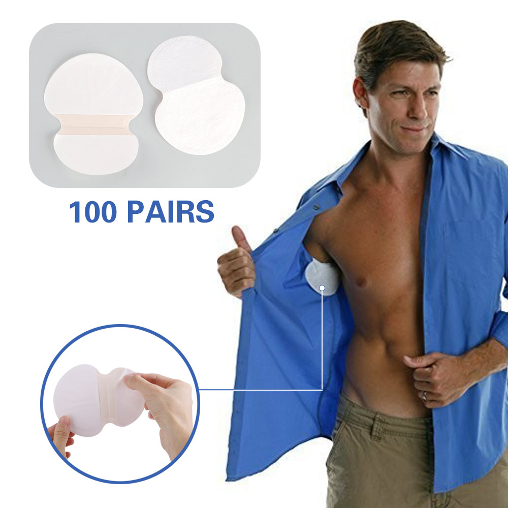 200pcs 100pairs Summer Armpit Sweat Pads Underarm Deodorants Stickers Absorbing Disposable Anti Perspiration Patch Antiperspira