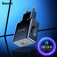 Baseus Quick Charge 3.0 2.0 USB Charger For iPhone Xiaomi Samsung Huawei QC3.0 QC Fast Charing Turbo Wall Mobile Phone Charger