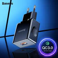 Chargeur rapide 3.0 2.0 USB Baseus pour iPhone Xiaomi Samsung Huawei QC3.0 QC chargeur rapide de téléphone portable Turbo