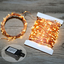 hot deal buy harrisontek plug in 8 mode wedding lights 30m patio garden christmas lights indoor outdoor copper wire twinkle led string lights