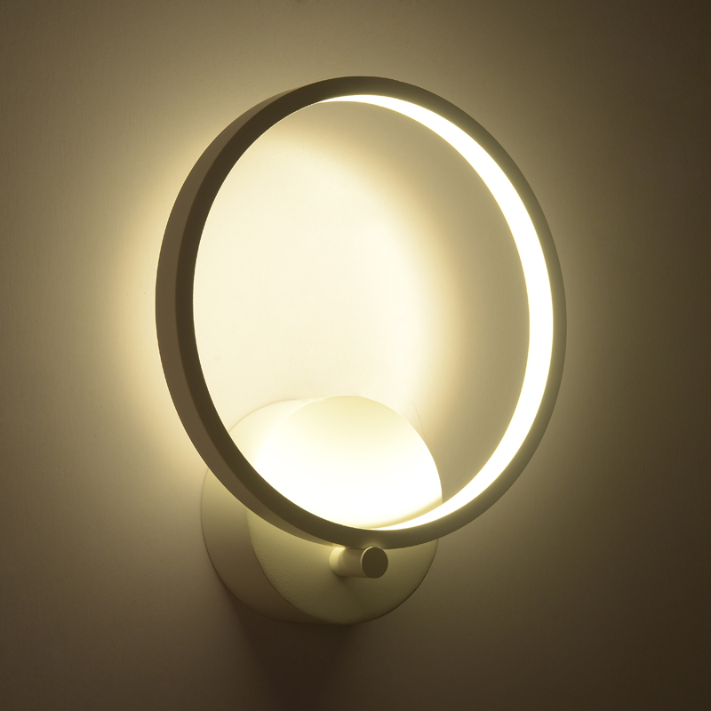 Modern LED wall lamp home decoration wall light for living room aluminum wall sconce bathroom 12W 15W LED ring lighting fixture стоимость