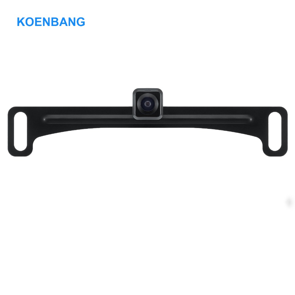KOENBANG Waterproof License Plate Frame Rear View Reverse Backup Camera HD Vehicle Back Front Side View