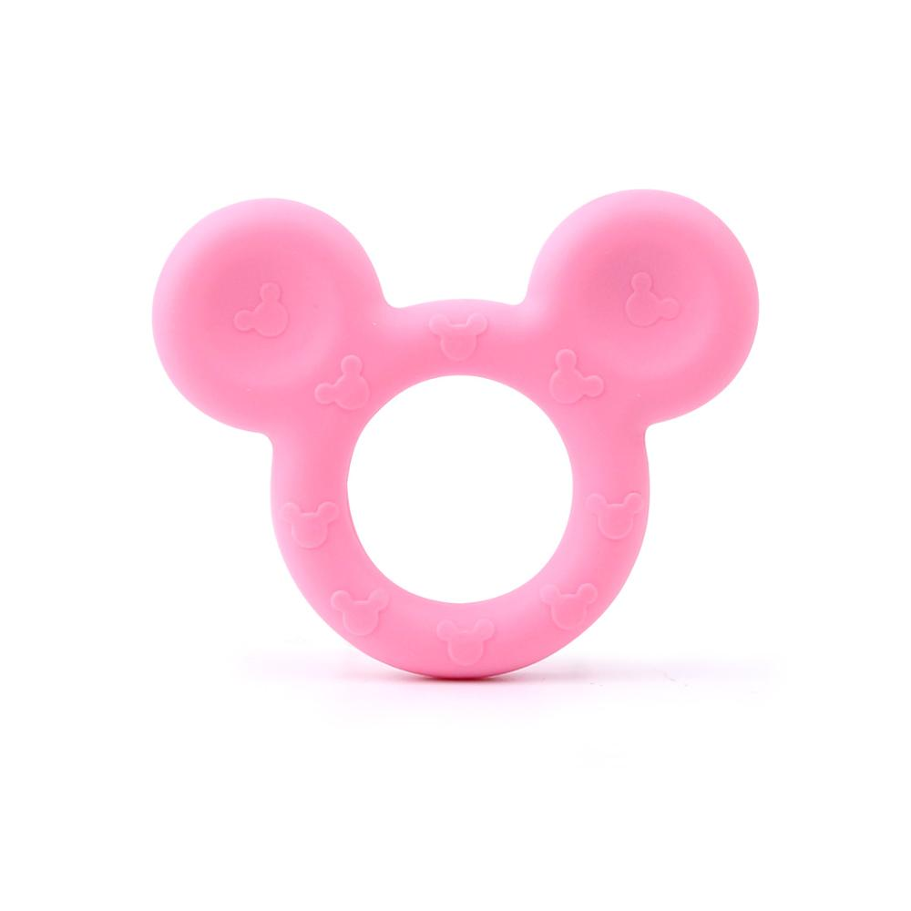 TYRY.HU 5pcs/ lot Mouse Baby Teether Silicone Beads Candy Color Baby Bite Teething Toys Chew Pendant XMAS Nursing Shower Gifts