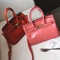 Free Shipping Europe New Fashion PU Black Pink Red Alligator Pattern Women Classical High grade Shoulder Bags Handbags SSM048