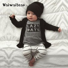 Autumn Baby Sets Baby Clothing Set Fashion Cotton Long-sleeved Letter T-shirt+Pants Newborn Baby Clothing Set For Boys 2017 autumn new born baby girls clothing sets infant long sleeved letter cotton t shirt