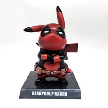 Deadpool Figure Pikachu COS Deadpool Wade Winston Wilson 15CM PVC Action Figure Toy Collection Model Gift In box