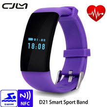 D21 Smartband Heart Rate Monitor Swim Waterproof Bluetooth Smart Band Bracelet Health Fitness Tracker Bracelet for Android iOS
