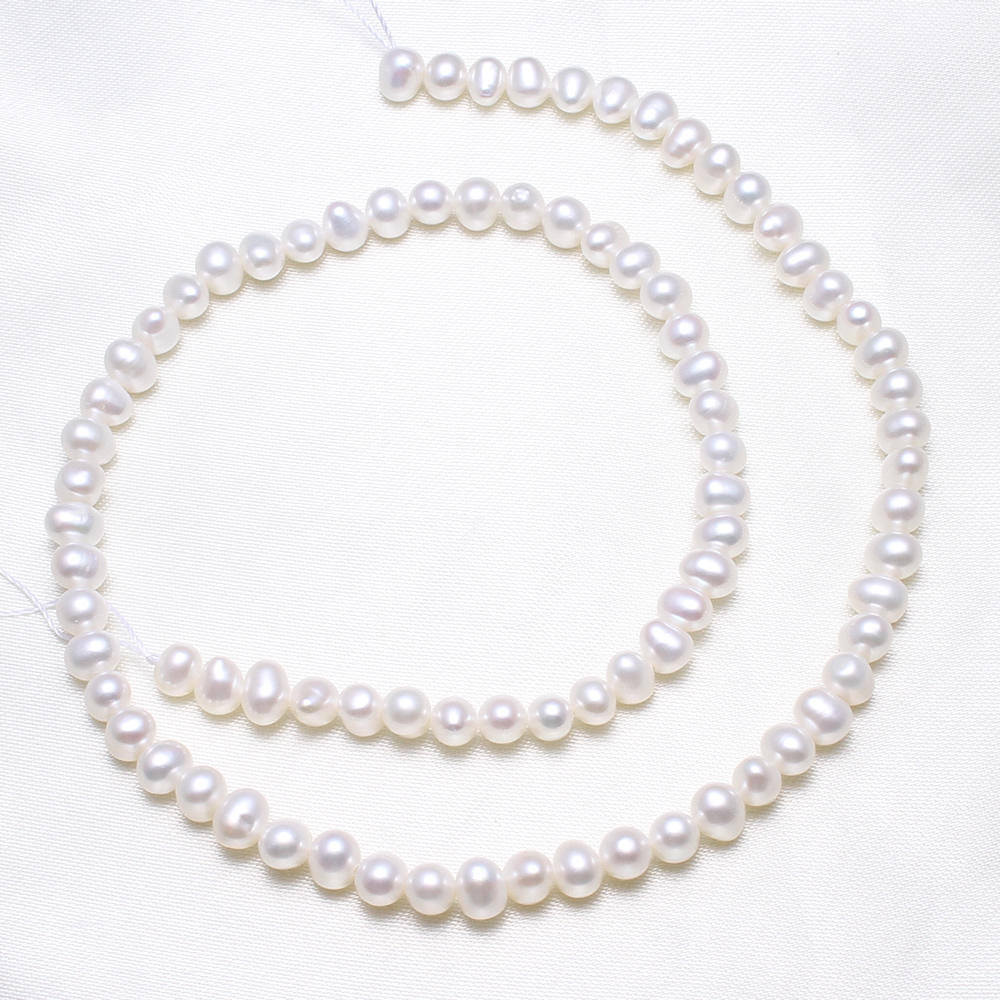 Lower Price with Yyw Potato Cultured Freshwater Pearl Beads Wholesale Jewelry Natural White 4-5mm Approx 15.5 Inch Strand Beads