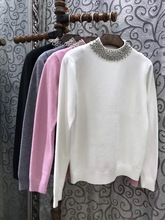 For nec  kline beading all-match autumn knitted sweater
