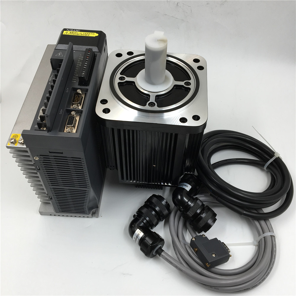 1.5KW Brake 18N.m AC Servo Motor Driver 2500rpm & 3M Encoder Power Cable CNC Kit MS-130ST-M06025BZ-21P5+DS3-21P5-PQA