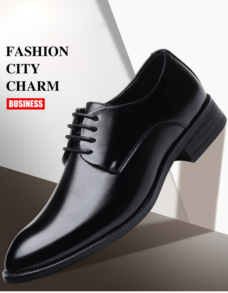 BIMUDUIYU Brand Classic Man Pointed Toe Dress Shoes Mens Patent Leather Black Wedding Shoes Oxford Formal Shoes Big Size
