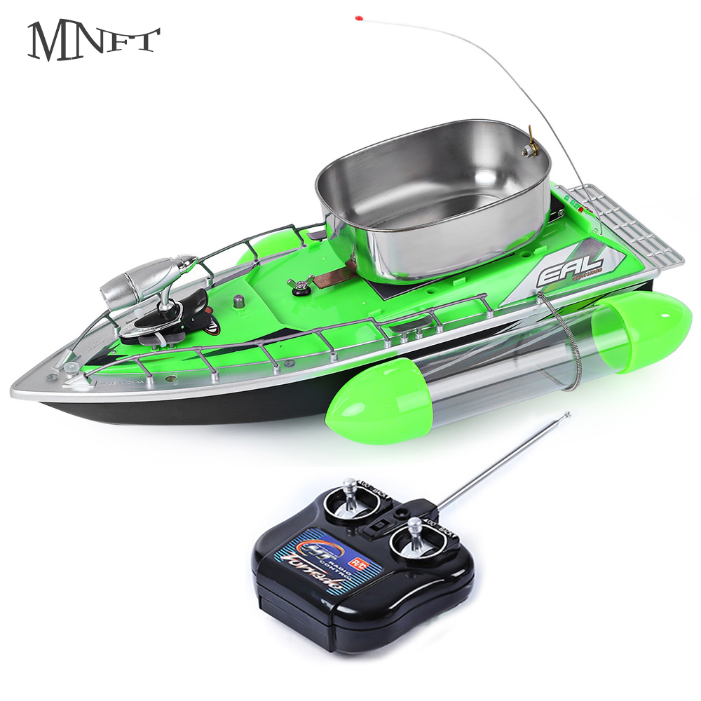 MNFT 1Set Fishing Lure Bait Boat 300M Remote Control Anti Wind Ship With Silence RC Radio Bait Fish Finder Fishing Boats mini fast electric fishing bait boat 300m remote control 500g lure fish finder feeder boat usb rechargeable 8hours 9600mah
