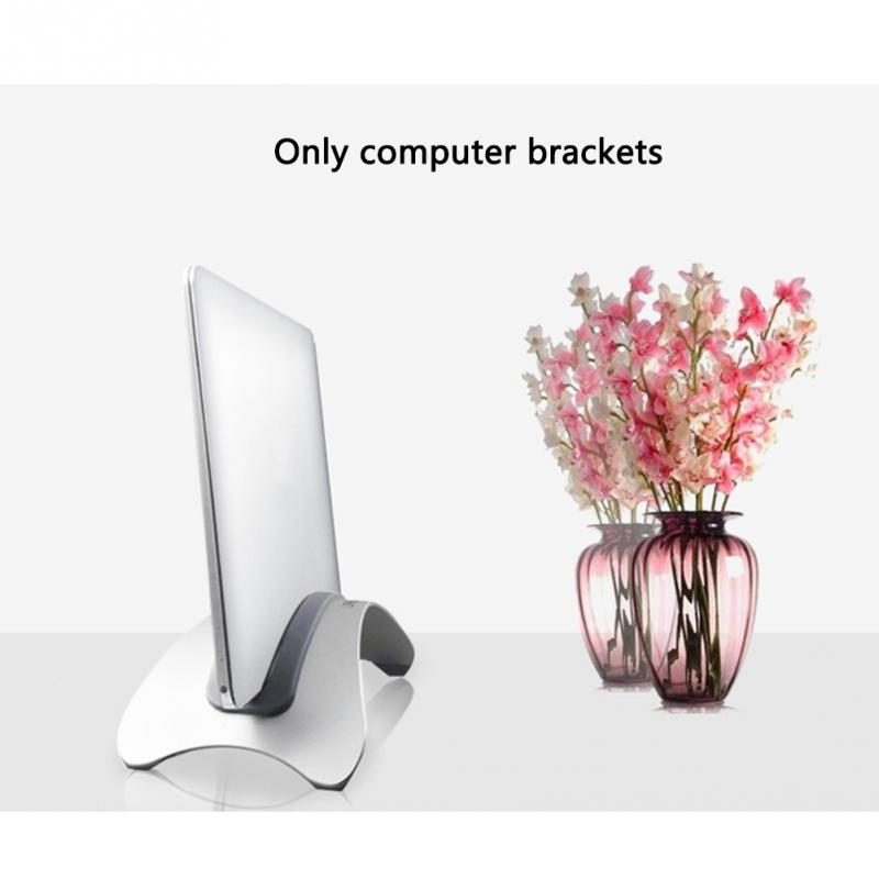 Storage Rack Space Saving Laptop Stand Erected Holder Vertical Accessories Anti Slip Stable Aluminum Alloy For Macbook Pro Air