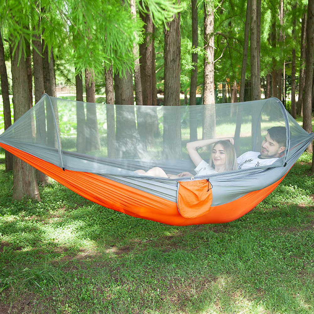 Automatic Quick Opening Hammock Outdoors Camp Mosquito Net Hamak Defence Mosquito Bring Swing Chair