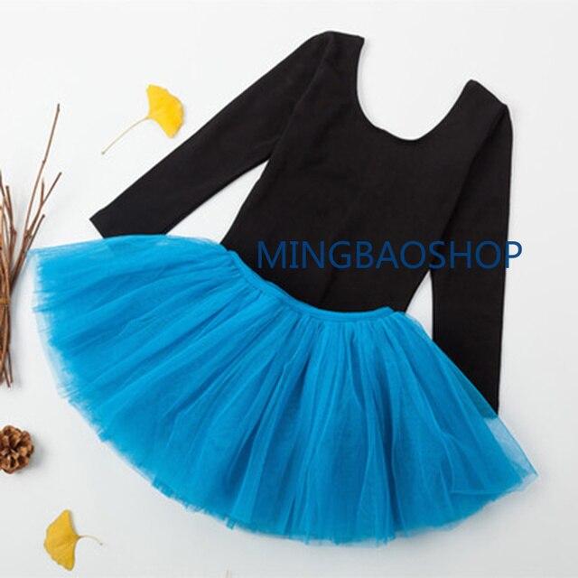 2d037fc38c 2019 Girls Ballet Dress Toddler Long Sleeve Gymnastic Leotard Ballet  Clothing Dance Wear With Chiffon Skirt
