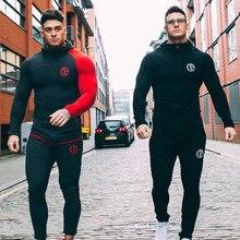 Autumn New Mens Skinny Hoodies Sweatshirts Male Gyms Fitness Bodybuild