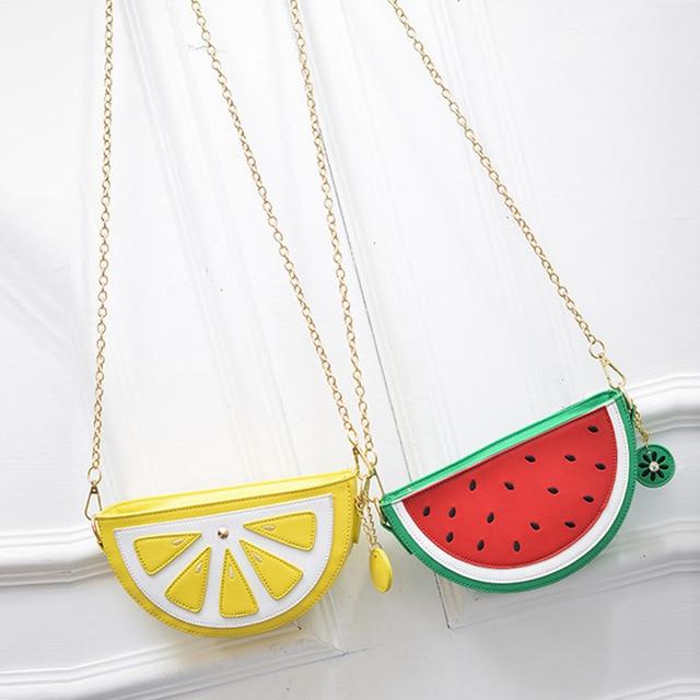 Watermelon Orange Shaped Bag Evening Clutch Bag Fruit Chain Messenger Small Crossbody Bags For Women Purses
