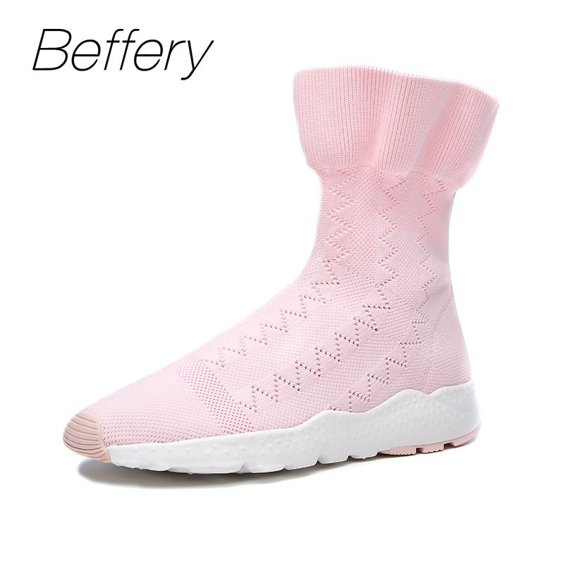Beffery Spring and Autumn Shoes Women's Ankle Boots Flat bottom Thick bottom Round top Short Boots Fashion Women Boots 2017 autumn new suede short boots thick bottom round toe solid color ankle boots women fashion casual shoes
