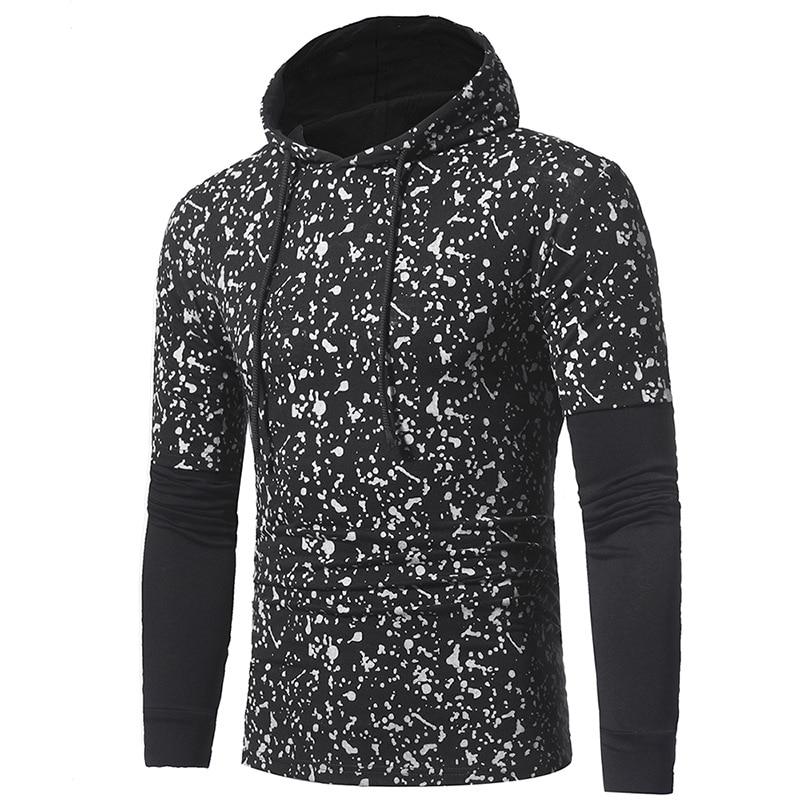 A sweatshirt / 2017 new high-end brand design creative leisure spots Hoody mens fashion unique Korean style size M-3XL