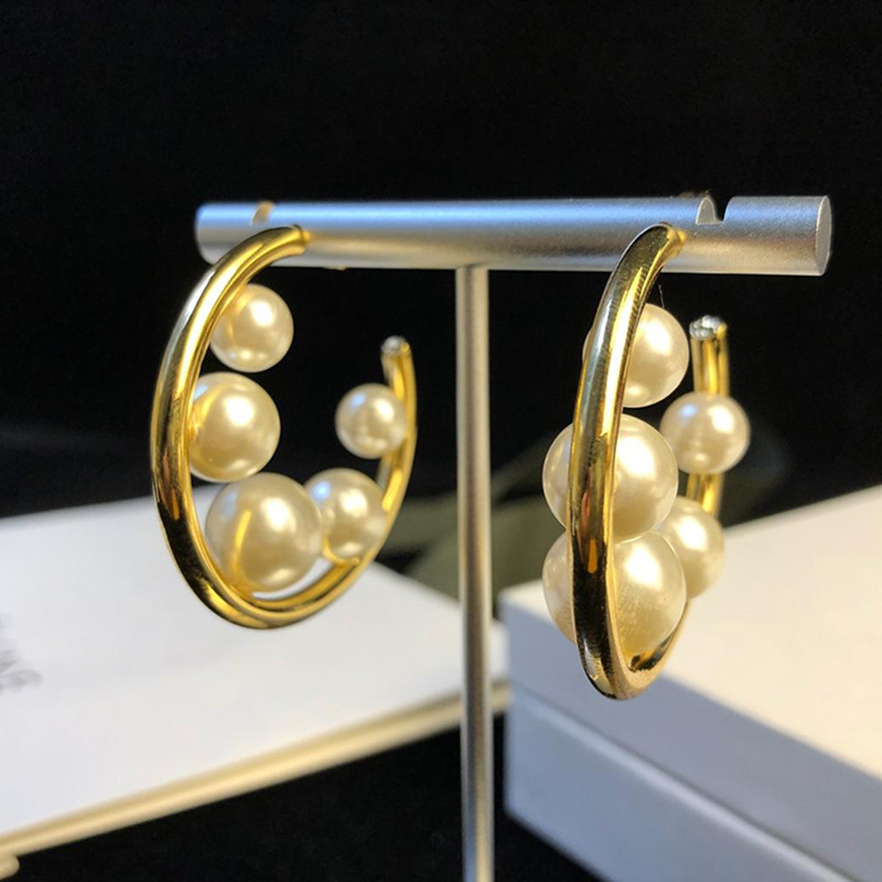 2019 New Fashion Jewelry Wholesale Factory Supplier Gold Colour Pearl Stud Earrings For Women NL07502019 New Fashion Jewelry Wholesale Factory Supplier Gold Colour Pearl Stud Earrings For Women NL0750