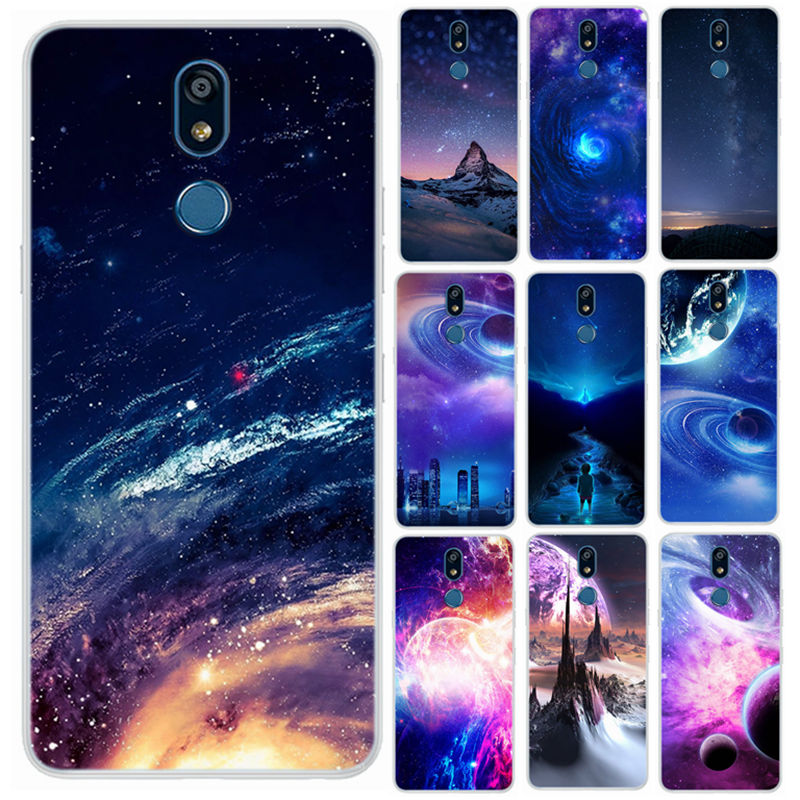 For LG K12 Plus Case For LG K40 2019 Case Silicone Phone Cover For LG X4 2019 Case LMX420 <font><b>K12plus</b></font> k 40 Wonderful Star Space Skin image